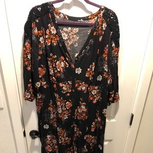 Torrid floral long dress